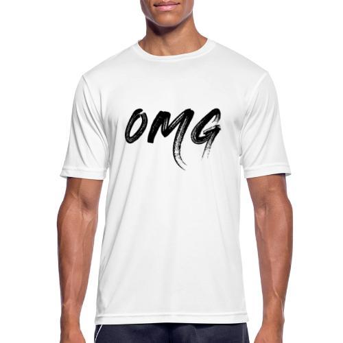 OMG, musta - miesten tekninen t-paita