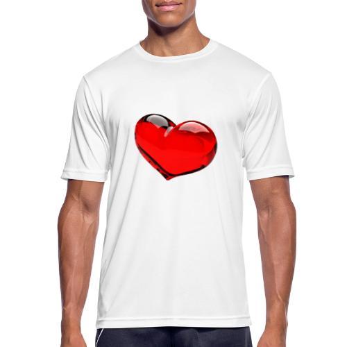 serce 3D - Koszulka męska oddychająca