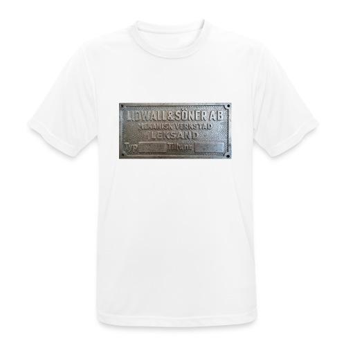Tillverkningsskylt före 1967 - Andningsaktiv T-shirt herr