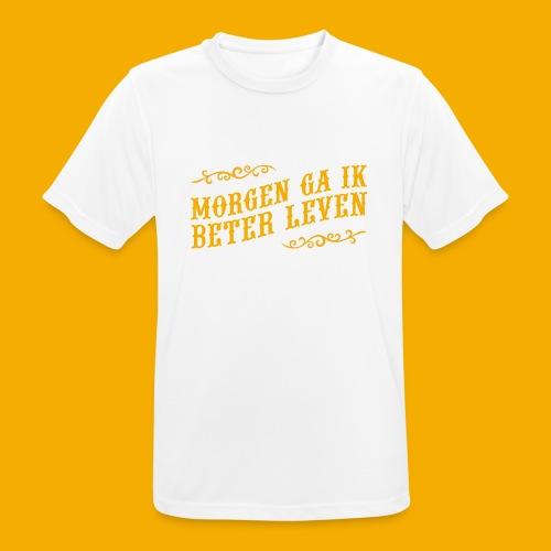 tshirt yllw 01 - Mannen T-shirt ademend actief