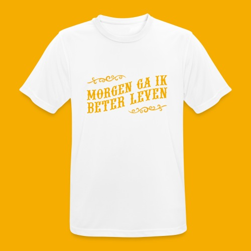 tshirt yllw 01 - Mannen T-shirt ademend