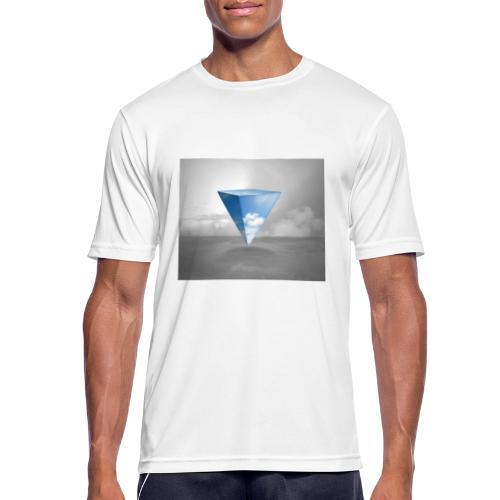 Geometrie Grey - Männer T-Shirt atmungsaktiv