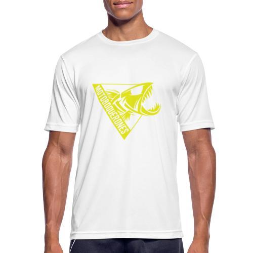 Logo Motoboquerones amarillo - Camiseta hombre transpirable