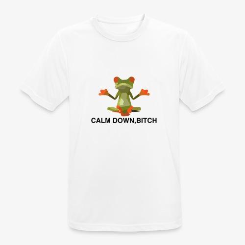 Frosch Calm Down, Bitch Motiv T-Shirt - Männer T-Shirt atmungsaktiv