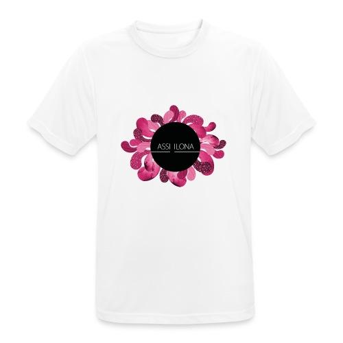 Lippis punaisella logolla - miesten tekninen t-paita
