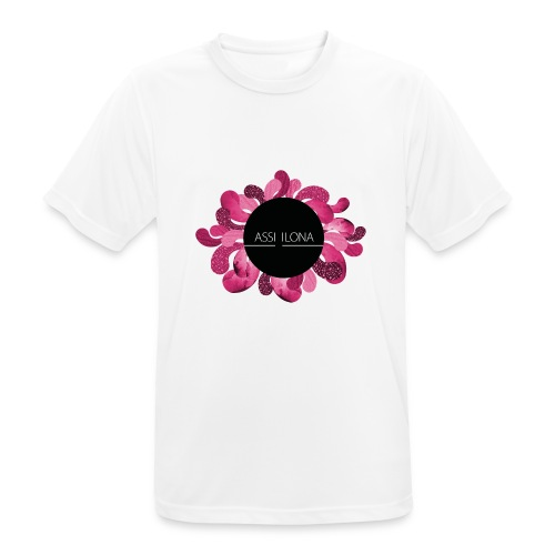 Lasten t-paita punaisella logolla - miesten tekninen t-paita