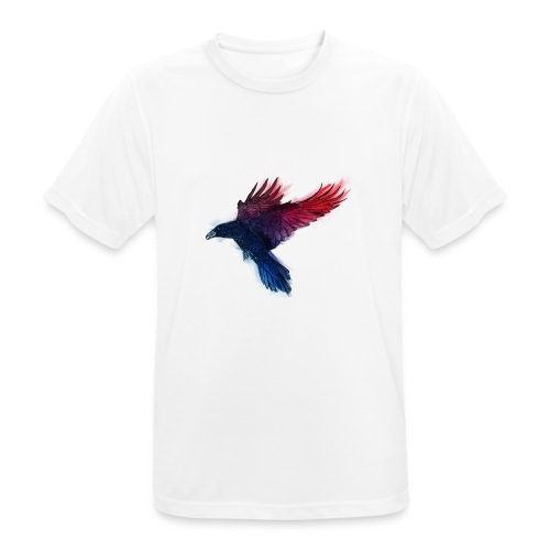 Watercolor Raven - Männer T-Shirt atmungsaktiv