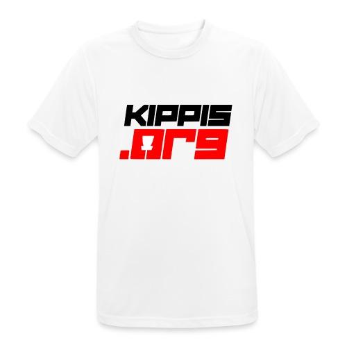 Kippis.org -tekstilogo - miesten tekninen t-paita