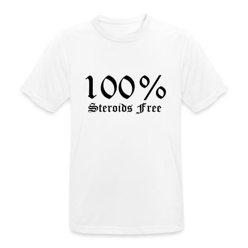 100% bez sterydów - Koszulka męska oddychająca