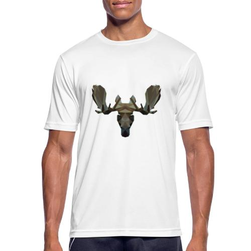 Low Poly Moosehead - Mannen T-shirt ademend