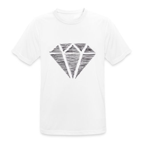 Diamante - Camiseta hombre transpirable