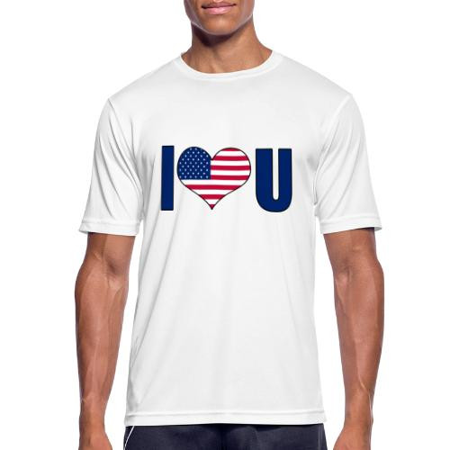 I love u USA - Men's Breathable T-Shirt