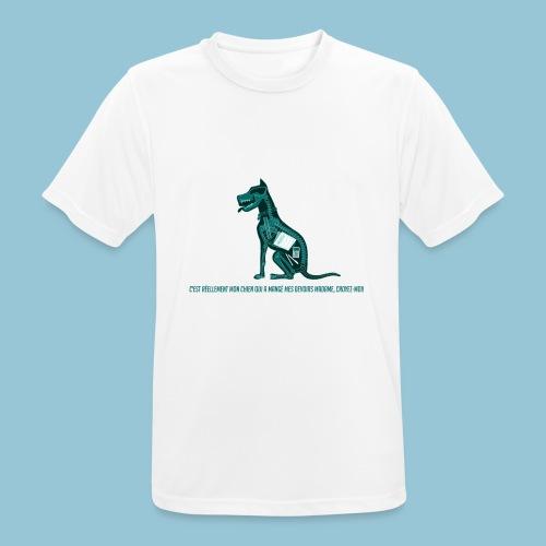T-shirt pour homme imprimé Chien au Rayon-X - T-shirt respirant Homme