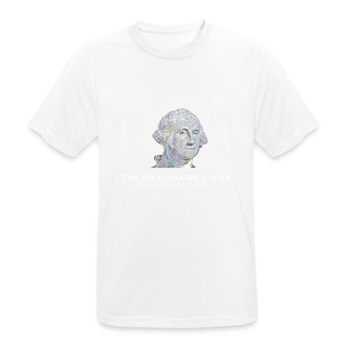 Il nostro logo in bianco - Maglietta da uomo traspirante
