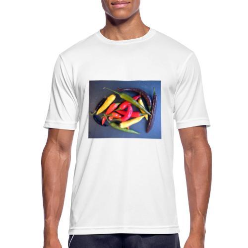 Chili bunt - Männer T-Shirt atmungsaktiv