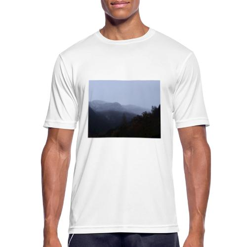 Collina con neve - Maglietta da uomo traspirante