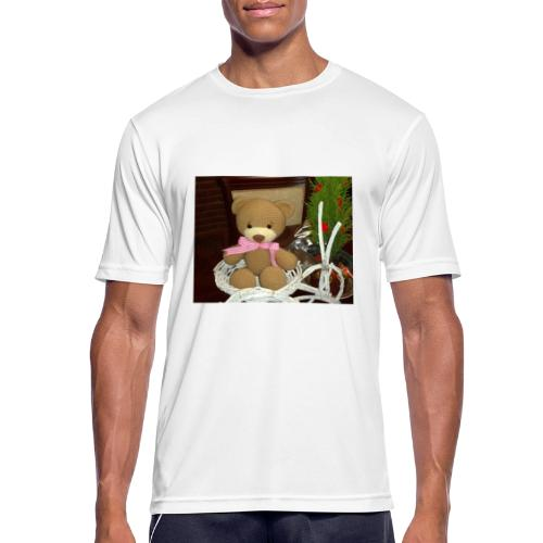 Oso amigurumi de crochet hecho a mano,suave - Camiseta hombre transpirable