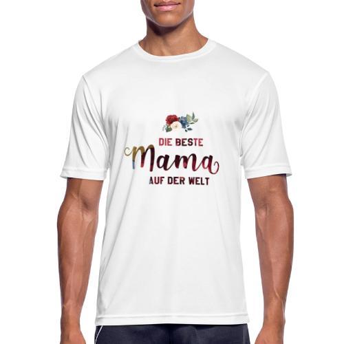 beste mama der welt blumenschrift - Männer T-Shirt atmungsaktiv