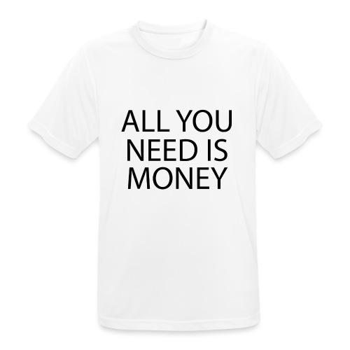 All you need is Money - Pustende T-skjorte for menn