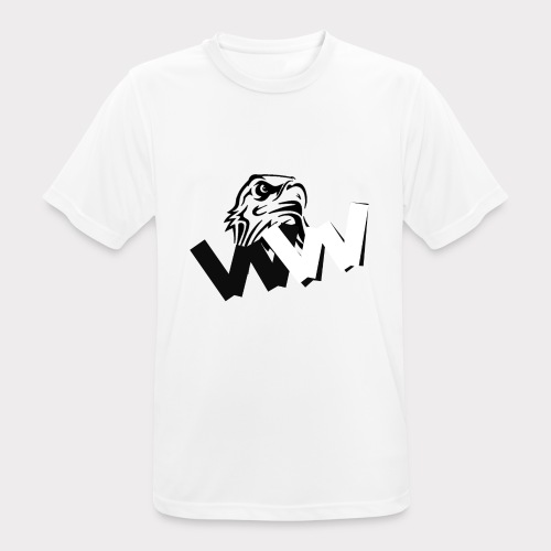 White and Black W with eagle - Men's Breathable T-Shirt