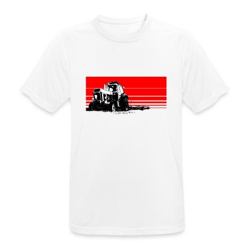 Sunset tractor - Maglietta da uomo traspirante