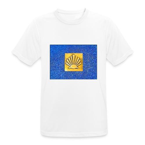 Scallop Shell Camino de Santiago - Men's Breathable T-Shirt