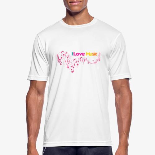 I love Music - Camiseta hombre transpirable