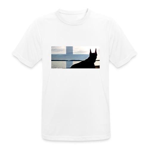 HUPPARITAUSTA2016 copy - miesten tekninen t-paita