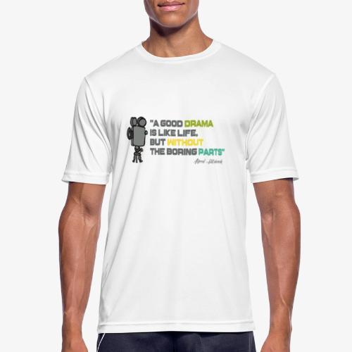 Pasión por el cine - Camiseta hombre transpirable