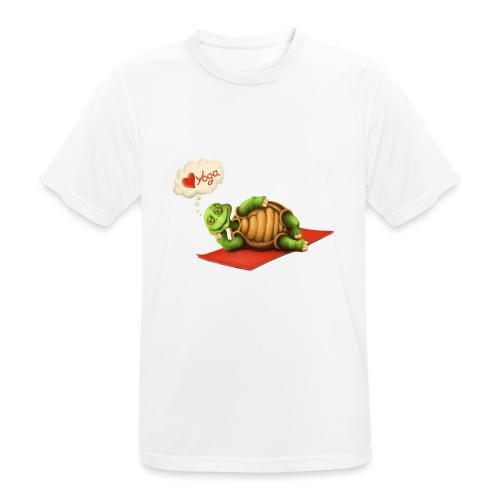 Love-Yoga Turtle - Männer T-Shirt atmungsaktiv