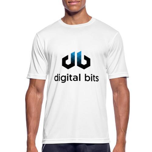 digitalbits Logo mit Schriftzug - Männer T-Shirt atmungsaktiv