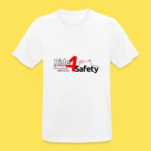 Ride4Safety - Maglietta da uomo traspirante