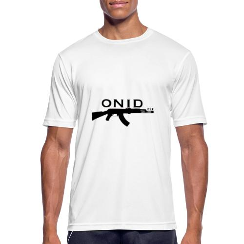 logo ONID-22 nero - Maglietta da uomo traspirante