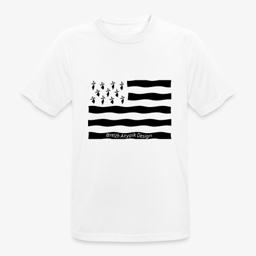 Gwenn ha Du-Noir fond transparent - T-shirt respirant Homme