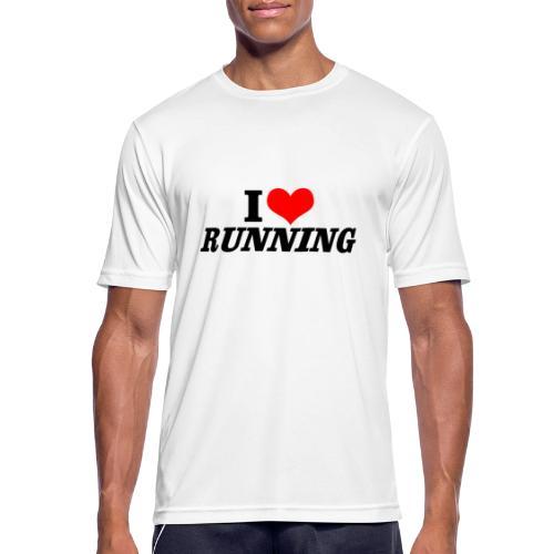 I love running - Männer T-Shirt atmungsaktiv