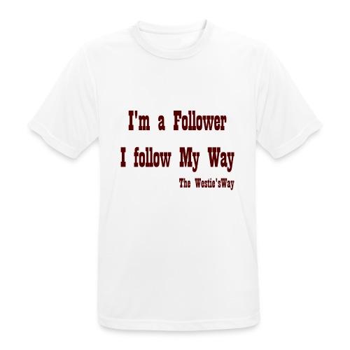I follow My Way Brown - Koszulka męska oddychająca