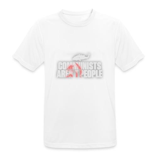 Communists aren't People (White) (No uzalu logo) - Men's Breathable T-Shirt