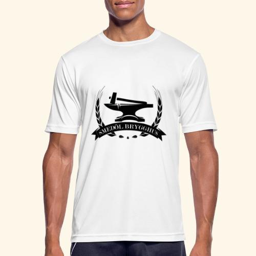 Smedöl Brygghus Logga Svart - Andningsaktiv T-shirt herr