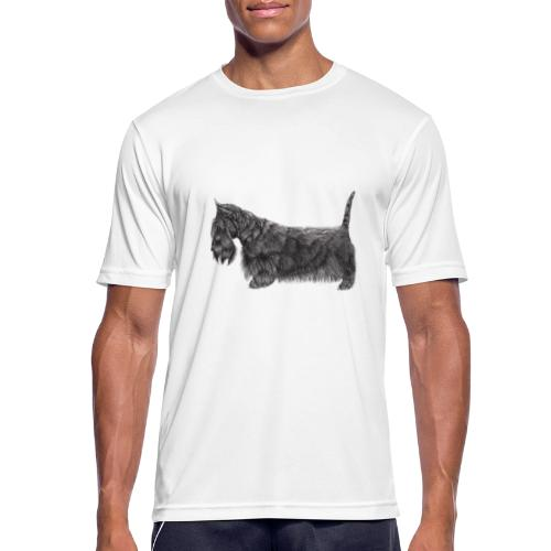 skotsk terrier ub - Herre T-shirt svedtransporterende