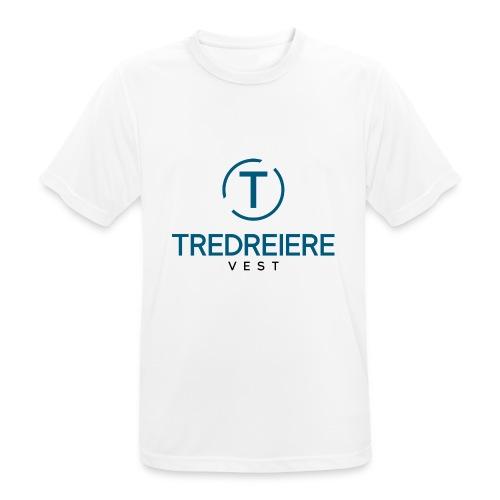 Farget logo - Pustende T-skjorte for menn