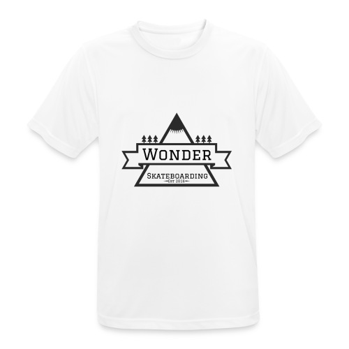 Wonder hoodie no hat - Mountain logo - Herre T-shirt svedtransporterende