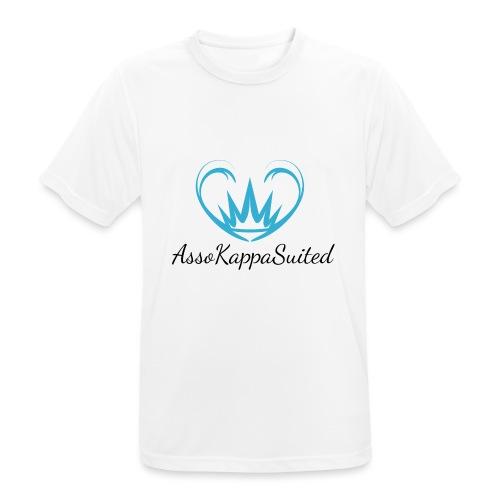 AssoKappaSuited Blu - Maglietta da uomo traspirante