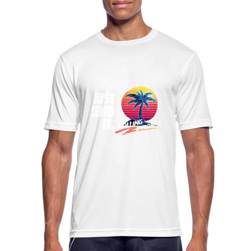 Just Send It @ RollingDrones - Men's Breathable T-Shirt