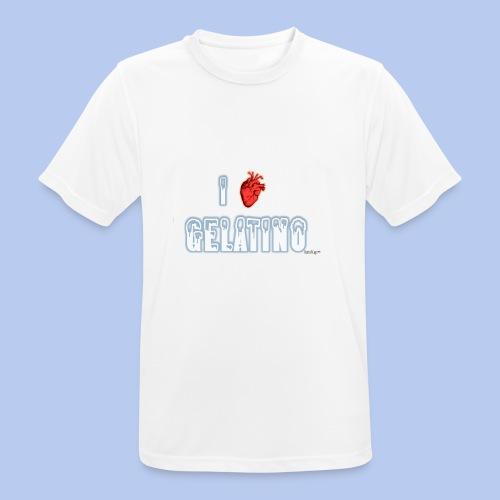 PuntoACapo - I ♥ Gelatino- - Maglietta da uomo traspirante