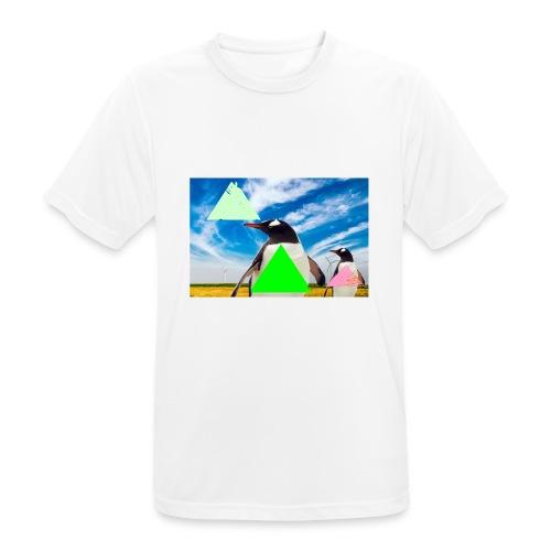 ultra_mega_h--ftig_pingvin_med_yolo_man_swag - Andningsaktiv T-shirt herr