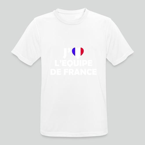 J'aime L'équipe de France (B) - T-shirt respirant Homme