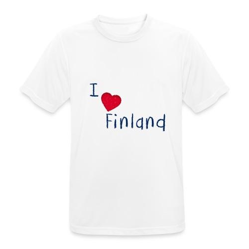 I Love Finland - miesten tekninen t-paita
