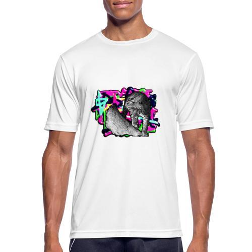 Leopard auf Bunt - Männer T-Shirt atmungsaktiv