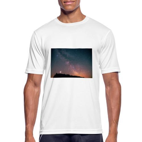 Milchstraße Fotografie Galaktisches Zentrum - Männer T-Shirt atmungsaktiv