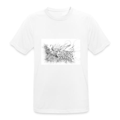 La panthère dans l'arbre - T-shirt respirant Homme